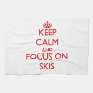 Guarde la calma y el foco en los esquís