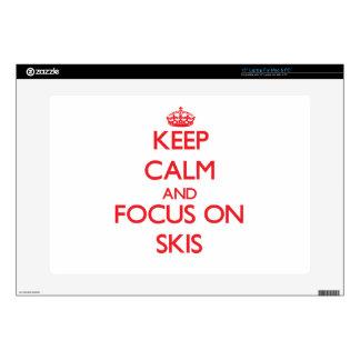 Guarde la calma y el foco en los esquís skins para portátil