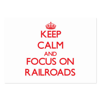 Guarde la calma y el foco en los ferrocarriles