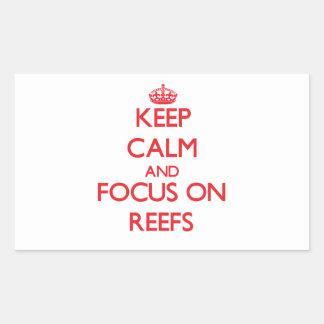Guarde la calma y el foco en los filones rectangular altavoz