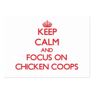 Guarde la calma y el foco en los gallineros de pol