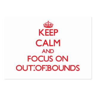 Guarde la calma y el foco en los Hacia Tarjetas De Visita Grandes