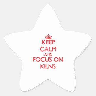 Guarde la calma y el foco en los hornos calcomanías forma de estrellas