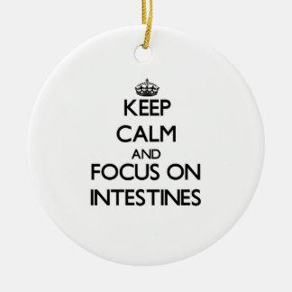 Guarde la calma y el foco en los intestinos ornamentos de reyes