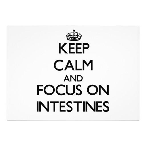 Guarde la calma y el foco en los intestinos anuncios