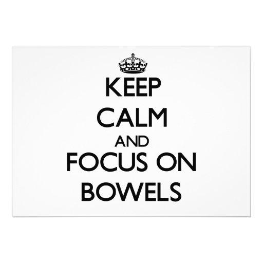 Guarde la calma y el foco en los intestinos comunicados personales