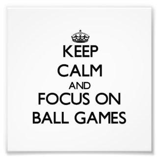 Guarde la calma y el foco en los juegos de pelota