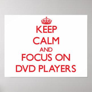 Guarde la calma y el foco en los jugadores de DVD Poster