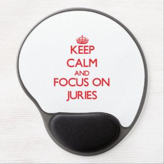 Guarde la calma y el foco en los jurados alfombrillas de ratón con gel