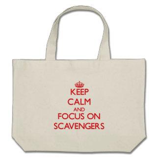 Guarde la calma y el foco en los limpiadores bolsas de mano