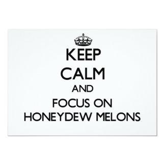 Guarde la calma y el foco en los melones de invitación 12,7 x 17,8 cm