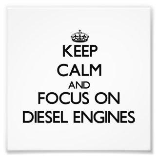 Guarde la calma y el foco en los motores diesel fotografías