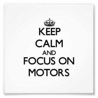 Guarde la calma y el foco en los motores foto