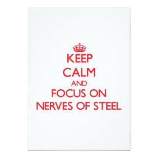 """Guarde la calma y el foco en los nervios del acero invitación 5"""" x 7"""""""