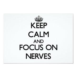 """Guarde la calma y el foco en los nervios invitación 5"""" x 7"""""""