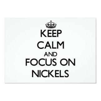 Guarde la calma y el foco en los níqueles comunicado personalizado