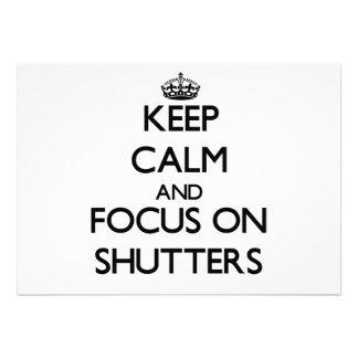 Guarde la calma y el foco en los obturadores
