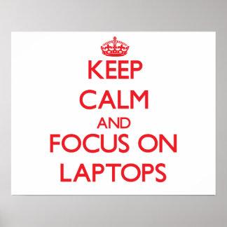 Guarde la calma y el foco en los ordenadores portá impresiones
