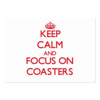 Guarde la calma y el foco en los prácticos de cost plantilla de tarjeta de negocio