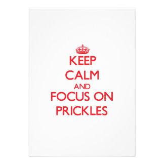 Guarde la calma y el foco en los Prickles