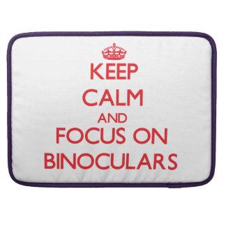 Guarde la calma y el foco en los prismáticos fundas macbook pro
