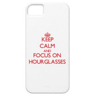 Guarde la calma y el foco en los relojes de arena iPhone 5 Case-Mate protector