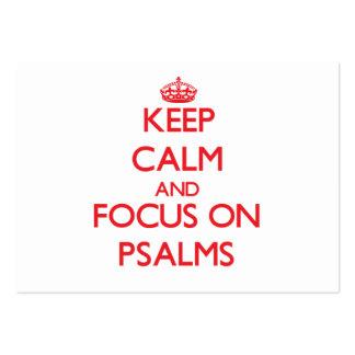 Guarde la calma y el foco en los salmos plantillas de tarjetas de visita