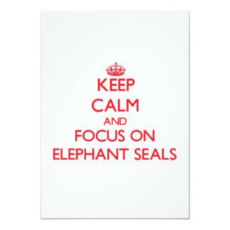 Guarde la calma y el foco en los sellos de comunicado personal