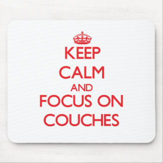 Guarde la calma y el foco en los sofás tapetes de raton