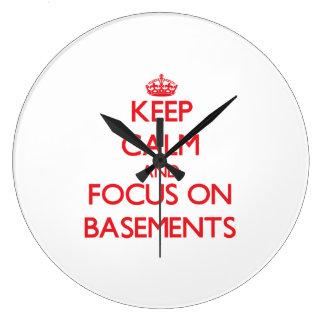 Guarde la calma y el foco en los sótanos