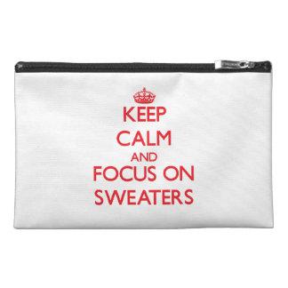 Guarde la calma y el foco en los suéteres