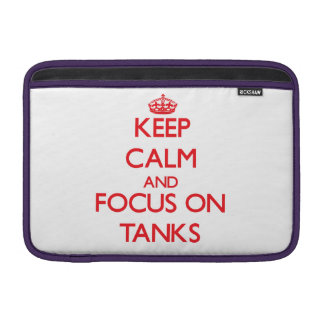 Guarde la calma y el foco en los tanques fundas MacBook