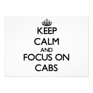 Guarde la calma y el foco en los taxis