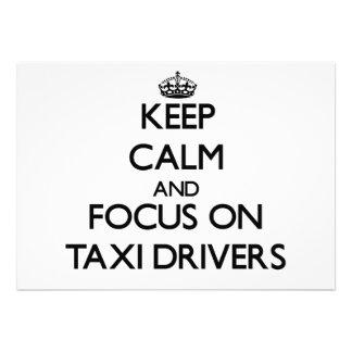Guarde la calma y el foco en los taxistas