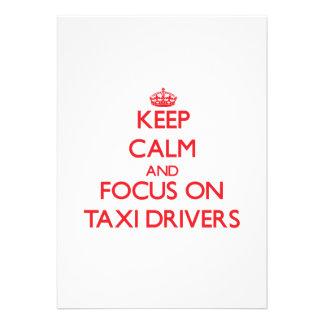 Guarde la calma y el foco en los taxistas invitaciones personales