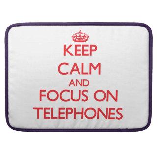Guarde la calma y el foco en los teléfonos funda macbook pro