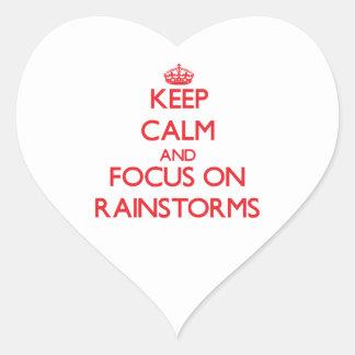 Guarde la calma y el foco en los temporales de pegatina de corazón personalizadas