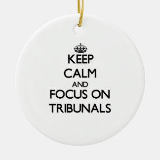 Guarde la calma y el foco en los tribunales ornatos