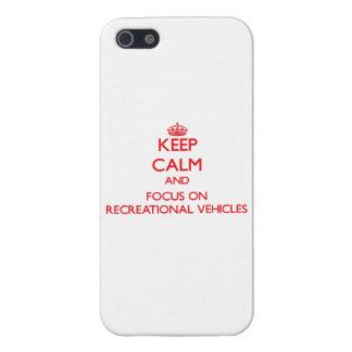 Guarde la calma y el foco en los vehículos recreat iPhone 5 protector