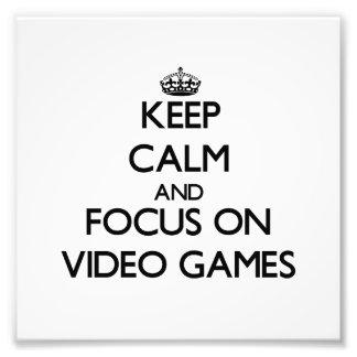 Guarde la calma y el foco en los videojuegos fotografías
