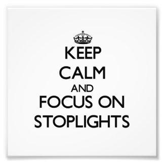 Guarde la calma y el foco en luces de parada
