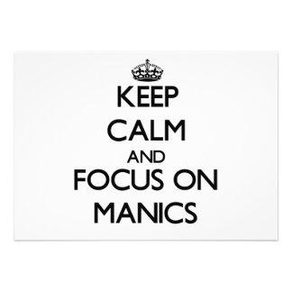 Guarde la calma y el foco en Manics
