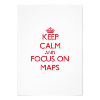 Guarde la calma y el foco en mapas
