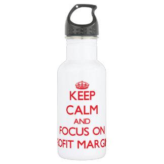 Guarde la calma y el foco en márgenes de beneficio