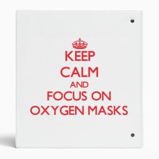 Guarde la calma y el foco en máscaras de oxígeno