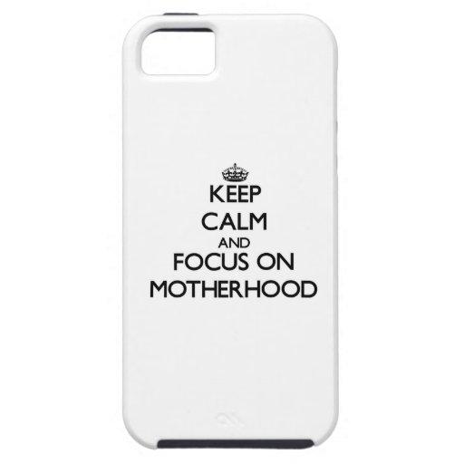 Guarde la calma y el foco en maternidad iPhone 5 fundas