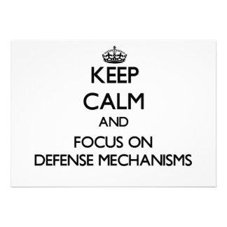 Guarde la calma y el foco en mecanismos de defensa comunicado