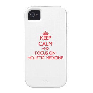 Guarde la calma y el foco en medicina holística Case-Mate iPhone 4 carcasas