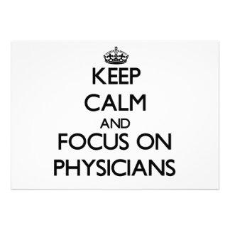 Guarde la calma y el foco en médicos comunicados