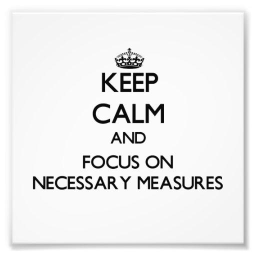 Guarde la calma y el foco en medidas necesarias fotografías